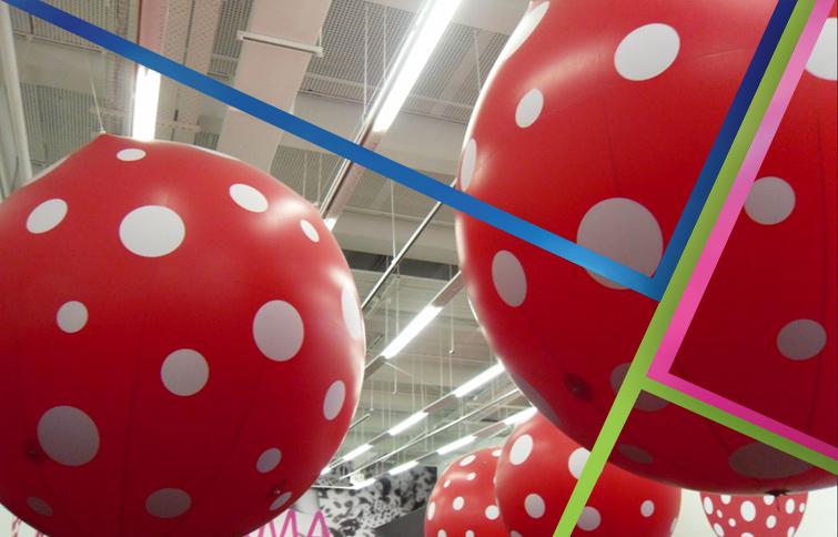 Palloni giganti centro commerciale