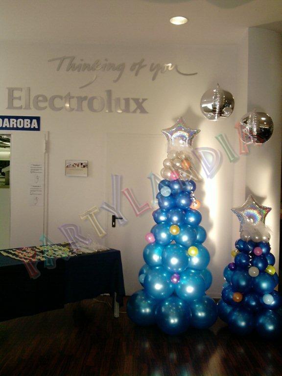 Allestimento di palloncini e Animazione Partylandia per la Cena aziendale natalizia dei dipendenti Electrolux