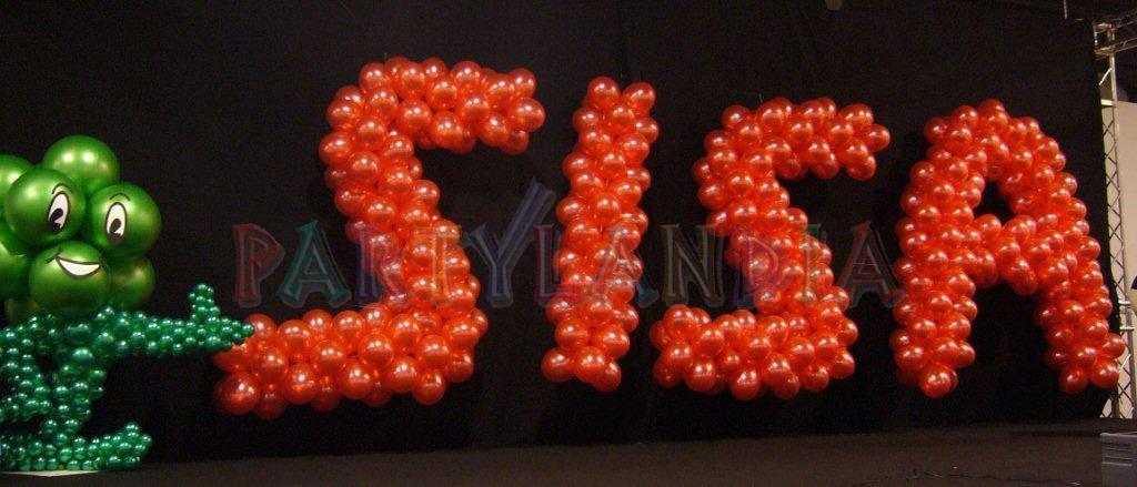 Addobbo con palloncini Partylandia per la Cena aziendale natalizia Gruppo SISA