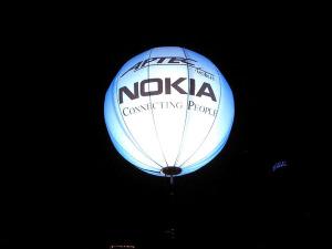 pallone gigante in pvc bianco con stampa NOKIA