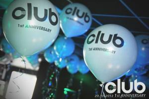 Prodotti esclusivi per party e discoteche: palloni giganti bianchi con logo nero illuminati