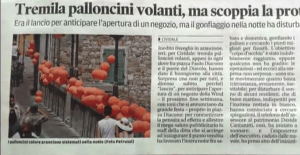 guerrilla marketing palloncini