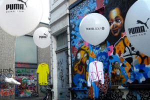 puma balloon Guerrilla marketing