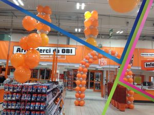 allestimento palloni nuova apertura