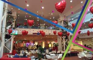 allestimento san valentino centro commerciale