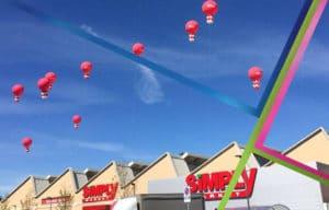 inaugurazione attività commerciale con palloni