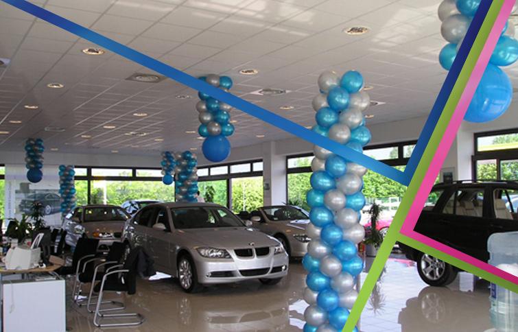 palloncini lancio nuova auto