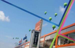 palloni giganti inaugurazione
