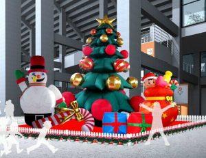 gonfiabili giganti per Natale