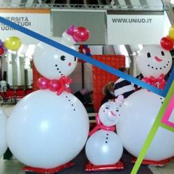 pupazzi di neve di palloncini