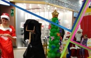 addobbi natalizi con palloncini, albero di natale