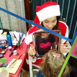 trucca bimbi vestita da natalina