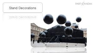 palloni giganti neri lucidi gonfiati ad elio