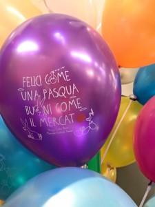 Palloncini personalizzati per Pasqua viola con stampa bianca