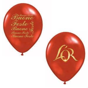 palloncini oro e rossi
