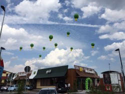 panoramica palloni personalizzati inaugurazione