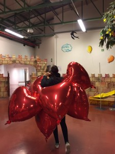 palloncini a forma di cuore