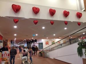 palloncini san valentino a forma di cuore