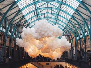 palloncini ecologici e biodegradabili per evento in galleria