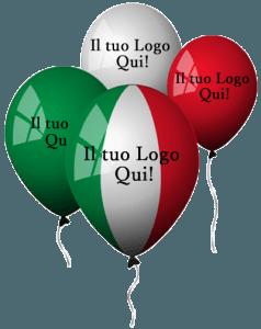 palloncini elezioni tricololore personalizzati