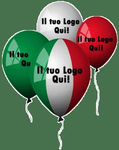palloncini tricololore personalizzati