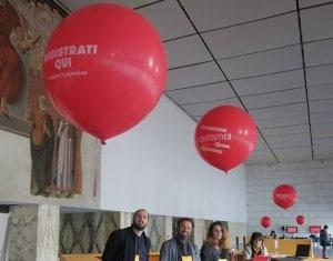palloni giganti rossi personalizzati