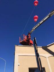 palloni giganti ad elio allestimento