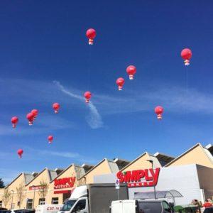 palloni giganti ad elio per inaugurazione