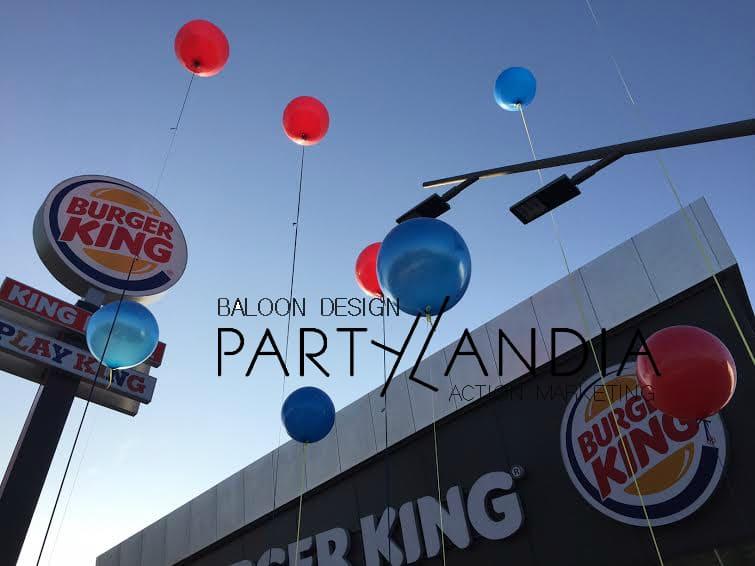 Palloni giganti per inaugurazioni: Burger King sceglie Partylandia