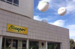pallone gigante in pvc allestimento