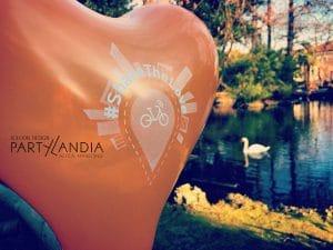 Palloncini personalizzati a forma di cuore