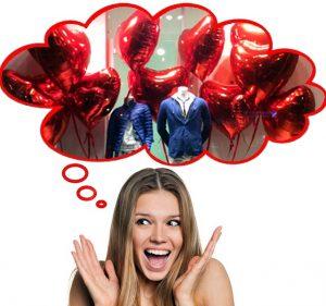 Palloni cuore San Valentino per negozi
