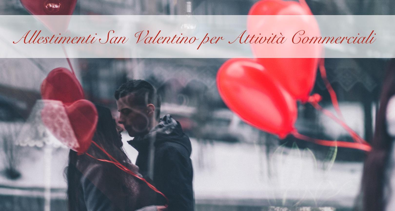 coppia innamorati palloncini cuore san valentino partylandia