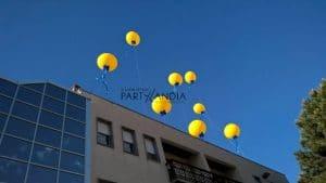 Palloni giganti per inaugurazioni sul tetto