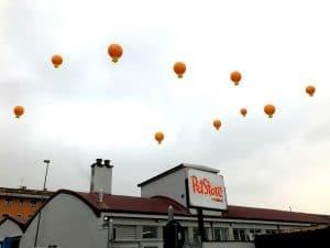 palloni inaugurazione sul tetto
