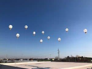 inaugurazione palloni giganti