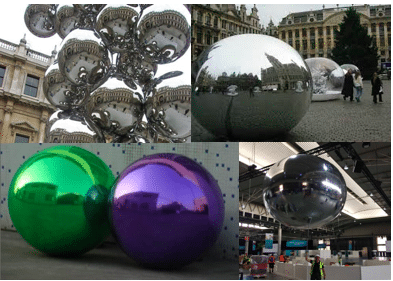 sfere giganti a specchio