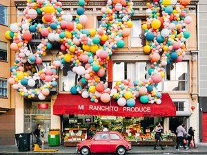 allestimenti scenografici con palloncini inaugurazione