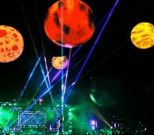 sfere con ventola elettrica illuminazione