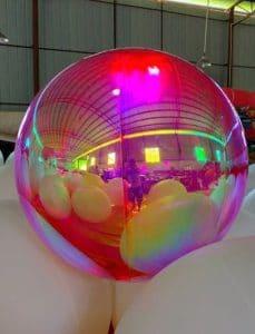 sfera a specchio rosa