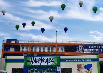 palloni sul tetto per inaugurazione