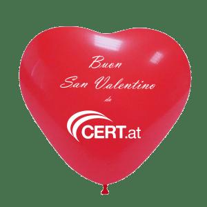 palloncino rosso con scritta
