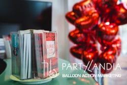 palloncini a forma di cuore rossi personalizzati
