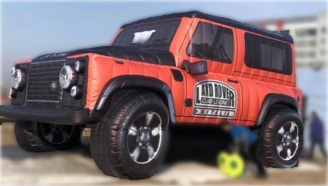 Automobili gonfiabile modello Land Rover