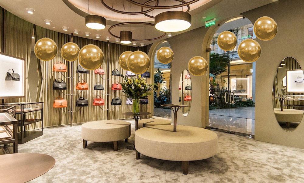 palle di natale oro gonfiabili per negozi